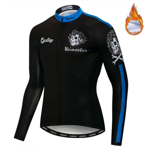 Männer 2019 Pro Team Radtrikot Langarm Bike Fleece Bekleidung Fahrrad Tops