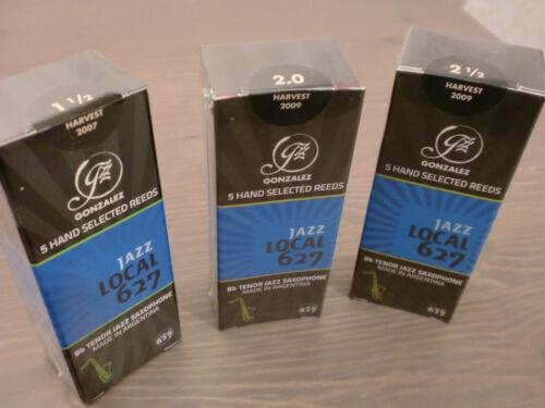 TOP QUALITY GONZALEZ JAZZ LOCAL 627 TENOR SAX REEDS ONLY £15.49 BOX OF 5