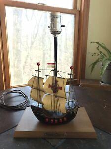 Fantastic Details About Vintage Boat Ship Lamp Santa Maria Ship Wood Table Lamp Mid Century Modern Home Remodeling Inspirations Gresiscottssportslandcom