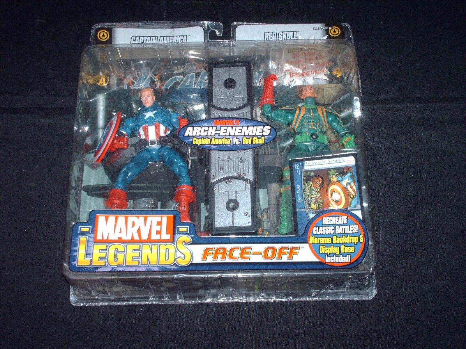 Captain America vs ROT Skull Variant Marvel Legends Face Off figure set New OOP
