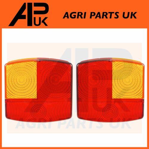 PAIR Rear Tail Brake Light Lamp Lens Case International Deutz John Deere Tractor