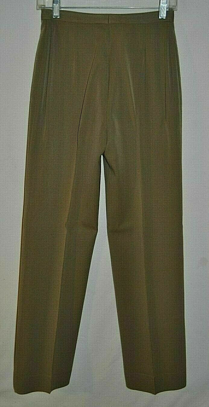 VTG Sir For Her Pants Trousers 100% Pure Wool Size S Grayish Green