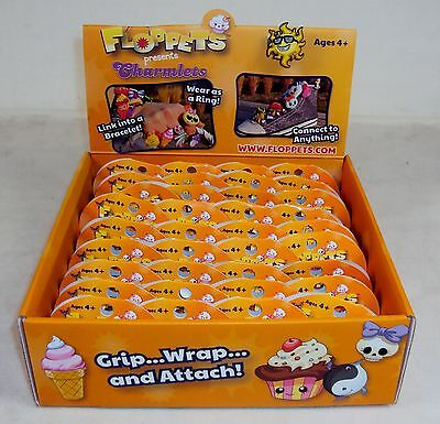 Wearable RETAIL BOX of 36 ~ Connectable Collectible Floppets Charm Rings