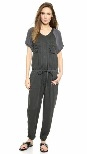 Free People Utility Jumpsuit slouchy washed gray s