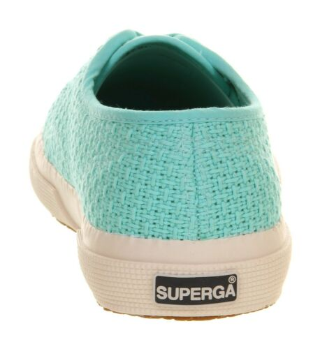 Superga 2750 verde pastel crochet Tenis Zapatos Uk Size 5