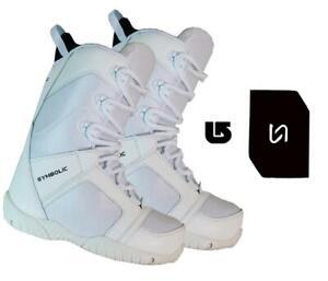 Symbolic-Ultra-Lite-Snowboard-Boots-Women-WHT-Size-6-7-8-9-10-Stomp-Burton-dcal