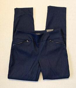 Van Heusen Para Mujer Tirar Pantalones 8 Super Estiramiento Azul Slim Fit Conico Msrp 84 Ebay