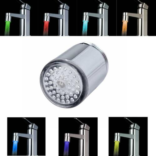 licht wasser strom 7 farben leuchten led duschen wasserhahn tap tap PW