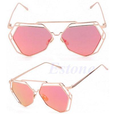 Women's Gold Retro Cat Eye Sunglasses Oversized Designer Vintage Fashion Shades