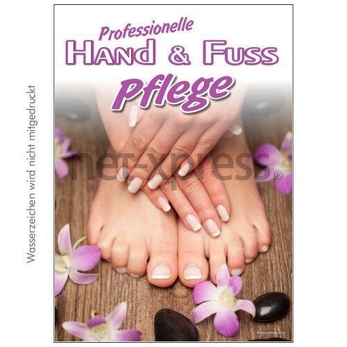 und Fußpflege Werbeplakat Plakat Weihnachten Plakat Hand