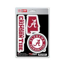New NCAA Alabama Crimson Tide Team ProMark Die-Cut Decal Stickers 3-Pack
