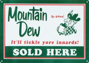 Mountain-Dew-Soda-Sold-Here-Retro-Tin-Metal-Sign-12-x-17in