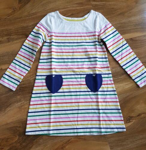 Mini Boden GIRLS hotchpotch heart pocket JERSEY DRESS LONG SLEEV BRAND NEW G0382