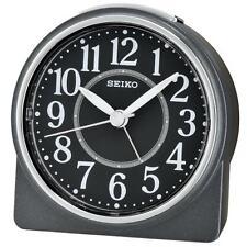 Seiko QHE137K Lumibrite Sweep Decond Hand Beep Alarm Clock with Snooze Black