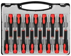 ct1719 15pc precision screwdriver set jewelers watches flat phillips star case ebay. Black Bedroom Furniture Sets. Home Design Ideas