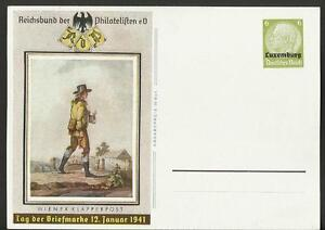 Vintage Postcard- Germany- Day of the Stamp, Luxemburg 1941, Unposted