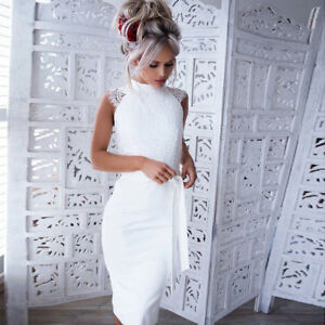 Image Is Loading Womens Lace Bodycon Bridesmaid Wedding Gown Tail Party