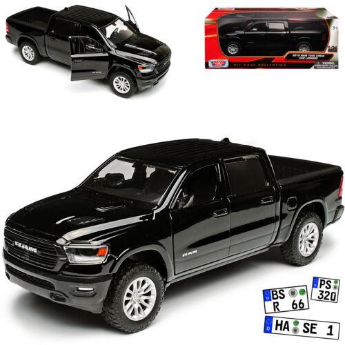generación a partir de 2019 1//24 Motormax Dodge Ram 1500 pick-up doble cabina negro 5