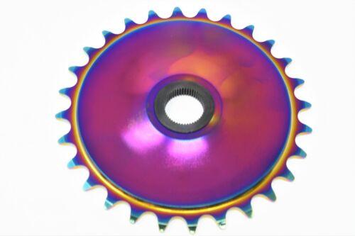 Snafu Jackson 28 Teeth BMX Spline Chain Ring Chainwheel CNC Jet Fuel