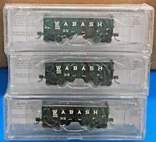 "2 Car Set // 2 Car #/'s Buford Shops-N WABASH 30/' 6/"" Panel Side Hopper Cars NIB"