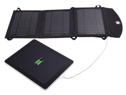 CHARGEUR SOLAIRE PORTABLE USB ETANCHE 10,5W POUR SMARTPHONE TELEPHONE TABLETTE
