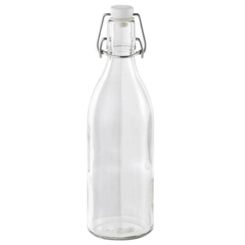 Clip Top Bottles for Kombucha /& Sloe Gin 3 x 0.5L Round Leifheit Swing Top