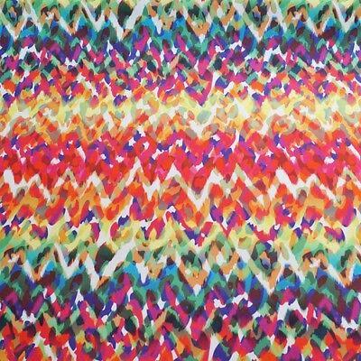 Animal Tribal Zig Zags Digital Print 100% Cotton Half Panama Fabric