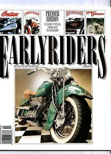 Earlyriders Magazine Fall 1994 Premier Issue Number 1 Henderson Indian Four