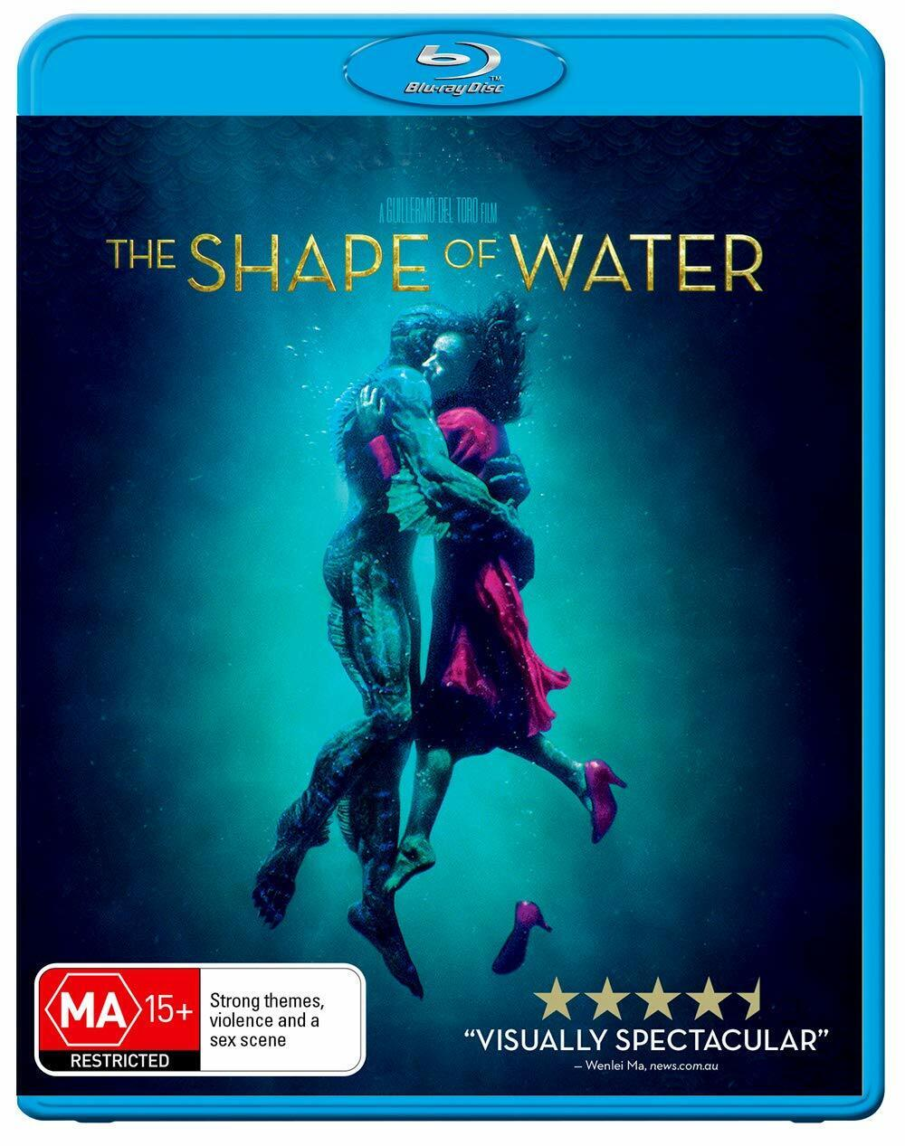 The SHAPE OF WATER (Blu-ray, 2018) FREE SHIPPING BRAND NEW Guillermo Del Toro