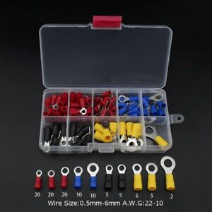 102pc-Assorted-Insulated-Copper-Ring-Crimp-Wire-Cord-Terminal-Connector-Kit-Set