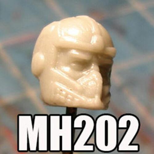 """MH202 Custom Cast Male head for use with 3.75/"""" GI Joe Star Wars Marvel figures"""