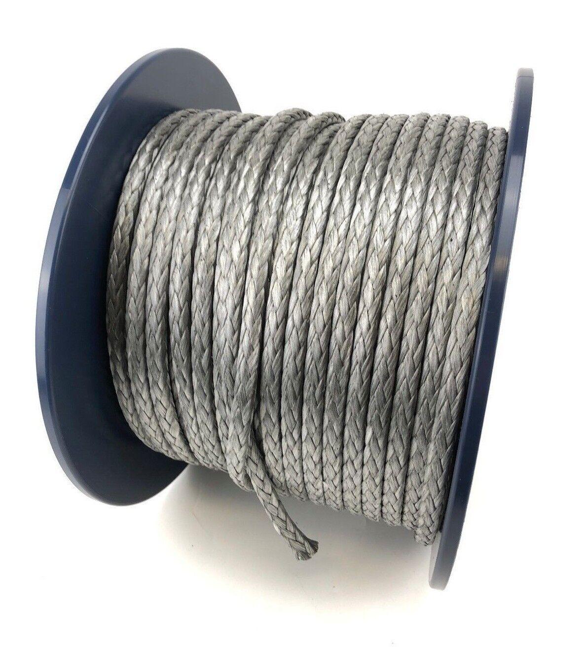 12mm zilver Dynema SK75 12 Strand Rope x 10 Metres --Gratis Delivery
