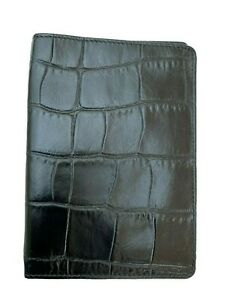 Exclusive-ALEXANDER-McQUEEN-PASSPORT-COVER-Samsonite-BLACK-LABEL-Leather-Black