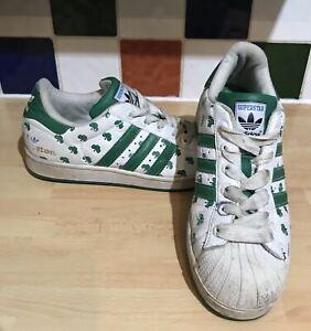 Détails sur Adidas Superstar II City VE Boston 35th Homme UK 7.5 EU 41.3 blancvert 132319 afficher le titre d'origine