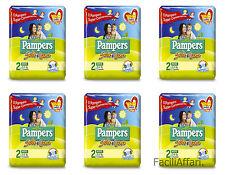 6 X pannolini Pampers Sole e Luna taglia 2 Pannolino per Bambini misura Mini due