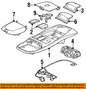 Details about Dodge CHRYSLER OEM 99-02 Ram 3500 Overhead Roof Console-Wire on