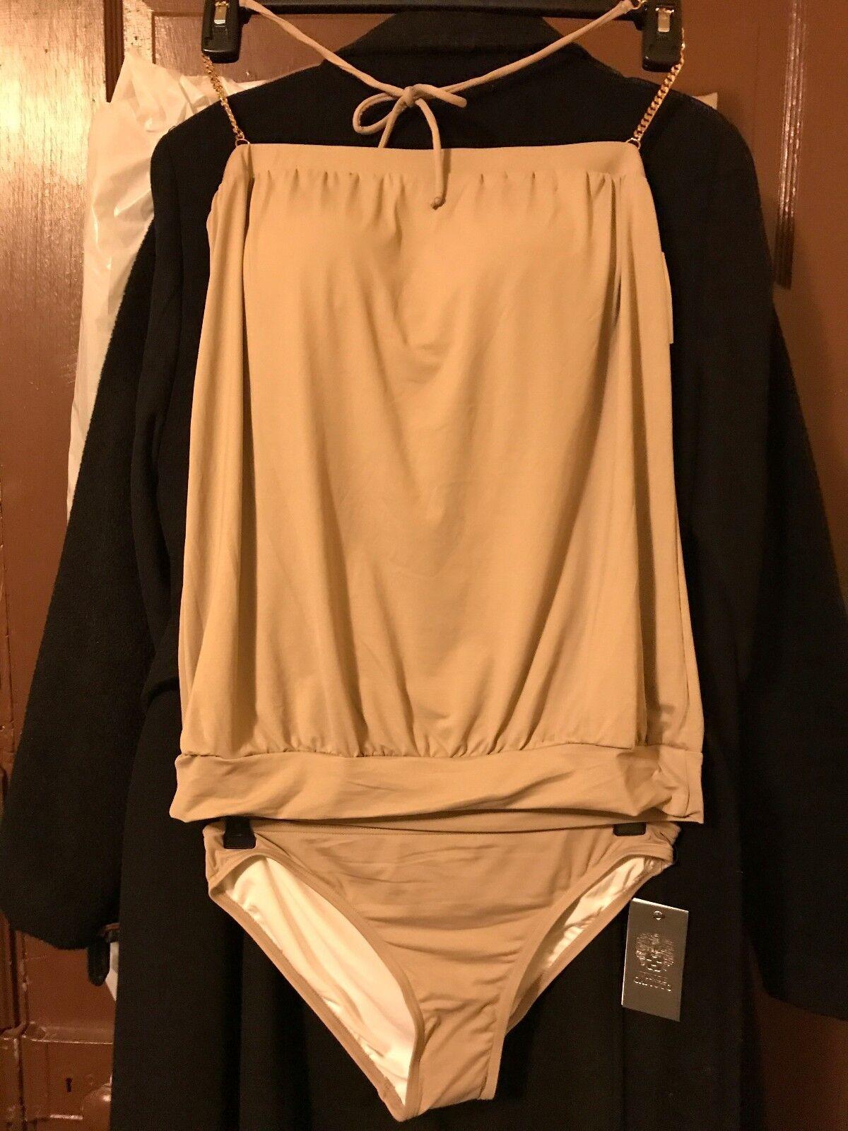 Vince Camuto Women's Small Collins Luxe Blouson Swimsuit Reg.  134