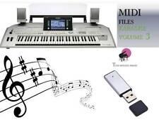 MIDI File Karaoke USB stick for Tyros 2 Volume 3 NEW