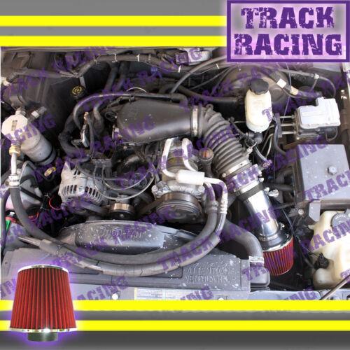 96-05 CHEVY S10 PICKUP BLAZER GMC SONOMA JIMMY 4.3L V6 AIR INTAKE KIT Black Red