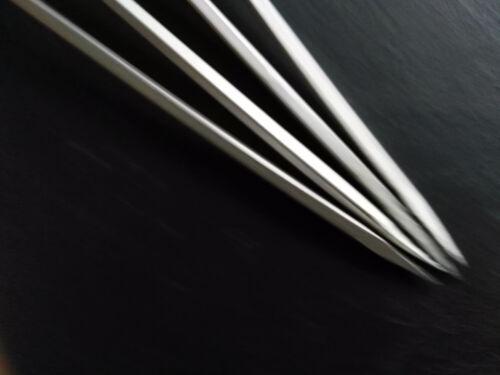 4 x Metall Stabkerzen 19cm Schwer Silber Kerzenhalter langer Dorn Adventskranz