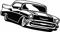 1957 Chevy Bel Air Chevrolet 57 Vinyl Decal Your Color Choice Sticker