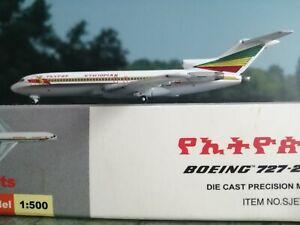 Starjets-1-500-Ethiopian-B727-200-ET-AHK-mit-stand-plus-Herpa-Wings-Katalog