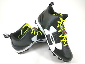 Under-Armour-Men-039-s-Crusher-RM-Size-15-Black-Football-Cleats-1286600-001