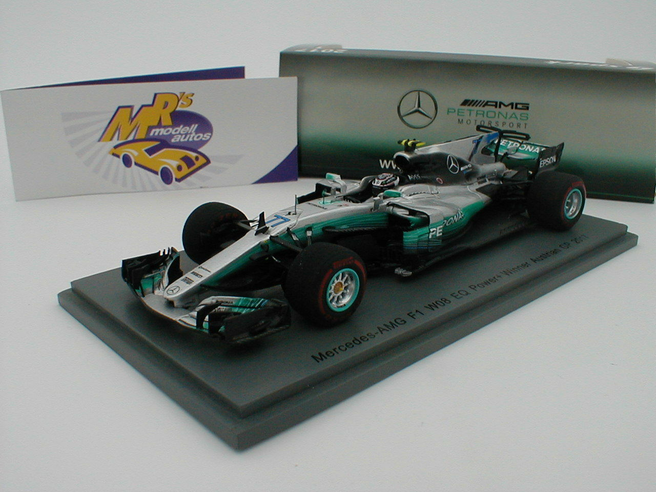 Spark s5048 Mercedes-AMG f1 w08 EQ Winner Austria GP 2017 V. Botta's 1 43