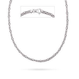 Kraftvoll Vaione Italienische Königskette Rhodiniert 925 Sterling Silber Vierkant Kette