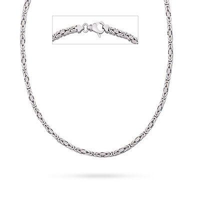 Intelligent Vaione Italienische Königskette Rhodiniert 925 Sterling Silber Vierkant Kette