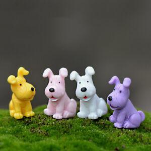 4pcs-Hund-Miniatur-Fee-Garten-Ornament-Puppenhaus-DIY-Handwerk-Pflanze-Fi-OOC