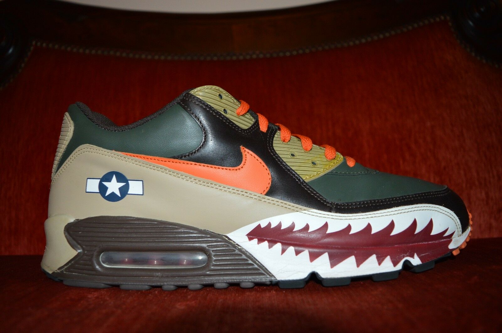 Nike Air Max 90 Premium Warhawk Armed Forces 315728-381 Size 13 8.5 10 Condition