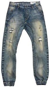 Details about ONE GREEN ELEPHANT Haruki Drop Crotch Skinny Mens Jeans Joggers Pants Sz W32 L32