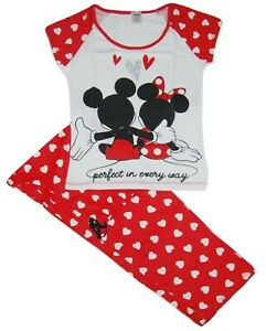 LADIES OFFICIAL MINNIE MOUSE /'PERFECT IN EVERY WAY/' PYJAMAS SIZES 8-10 to 20-22